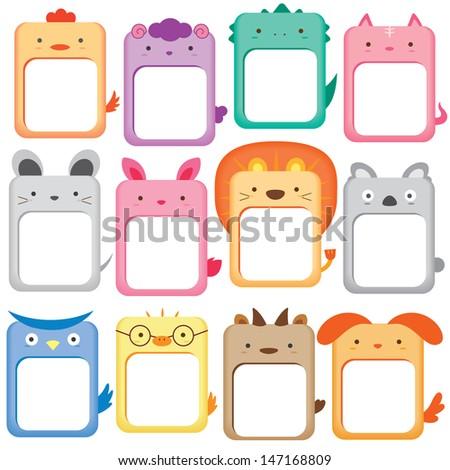 animals note digital set