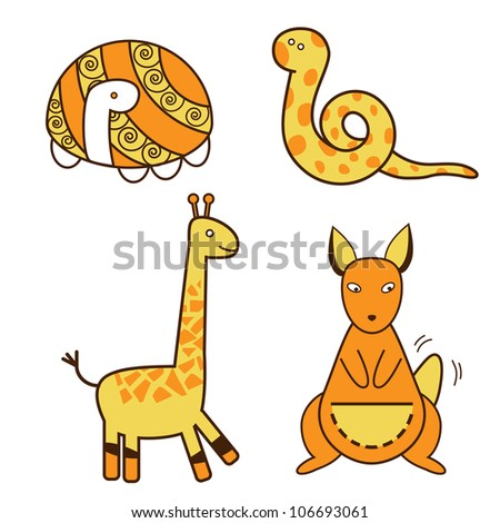 animals of Australia (vector)
