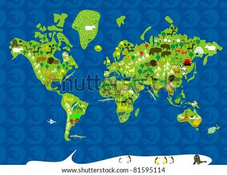 animals of the world - stock vector