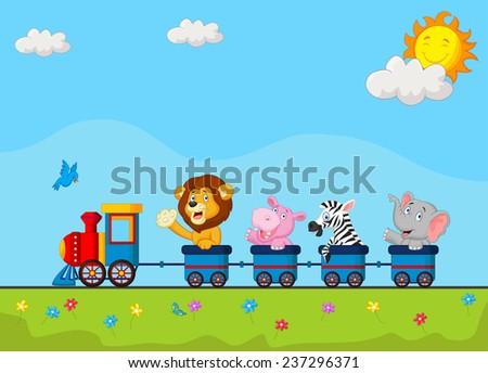 animals on train