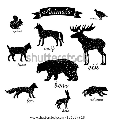 animals outlines of animals