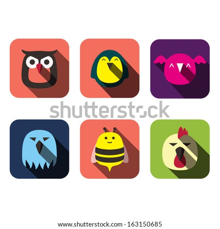 animals user flat design