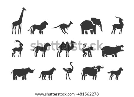 Animals vector icons set