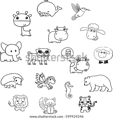 animals vector many animals
