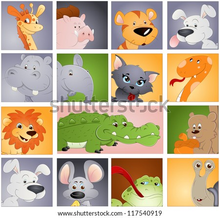 Animals Vectors - Profile Icon Concept