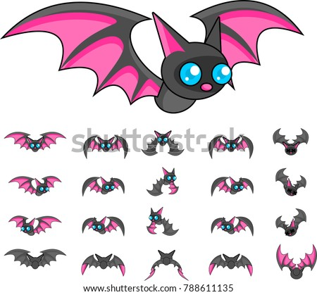 animated bat creature for