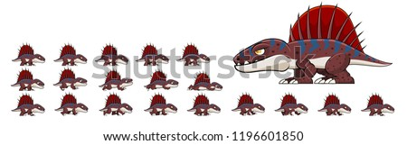 animated dinosaur character for