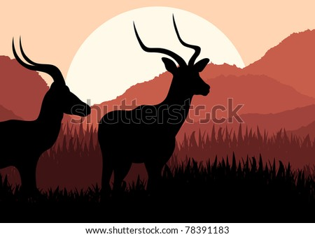 animated gazelle couple in wild