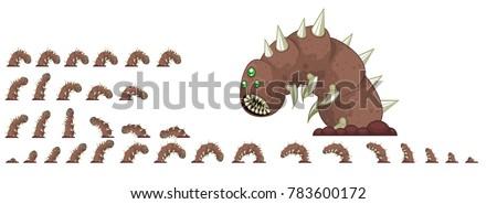animated giant worm game