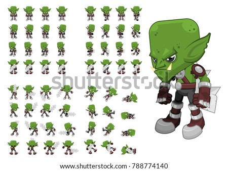 animated orc character for