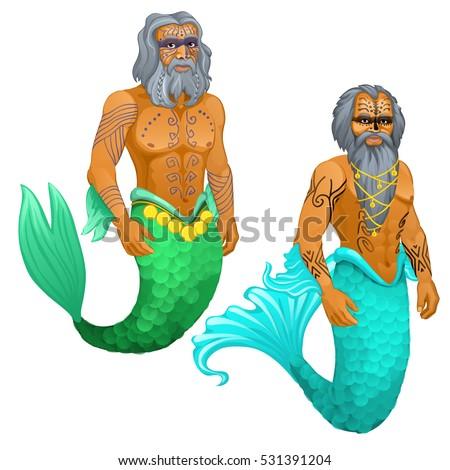 animated sailor mermaid man