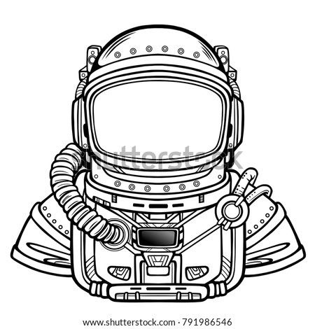 animation astronaut in a space