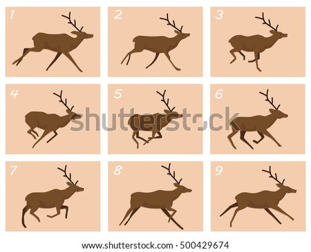 animation deer running