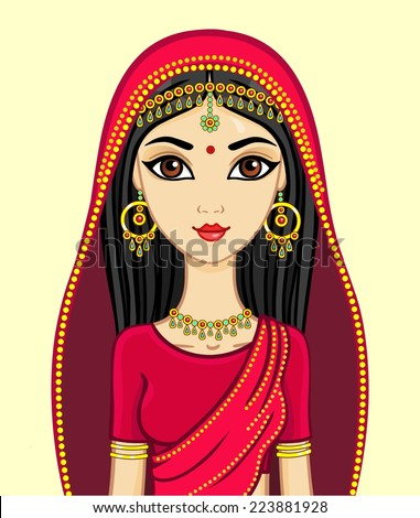 animation indian princess in a
