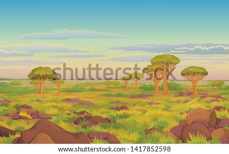 animation landscape  african
