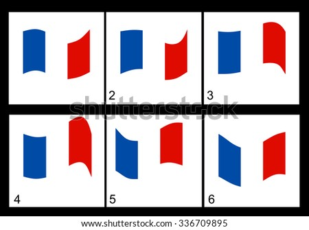 animation of the french flag