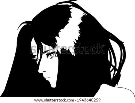anime character vector head
