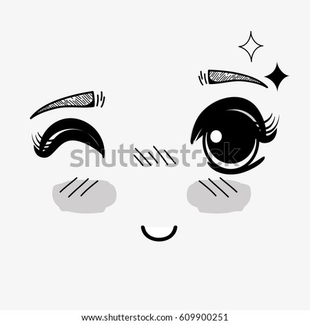 anime cute expression woman face