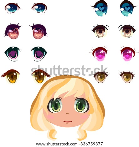 anime eyes set