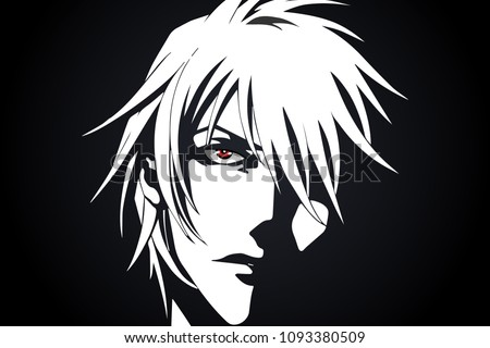 anime face from cartoon with