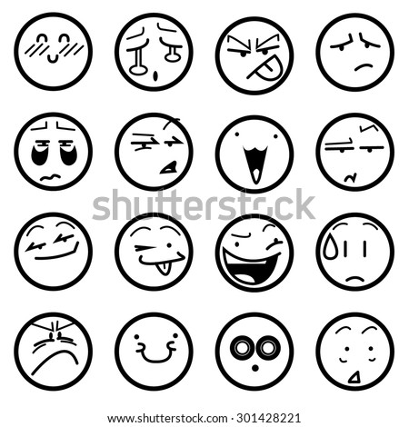 anime icons expressions