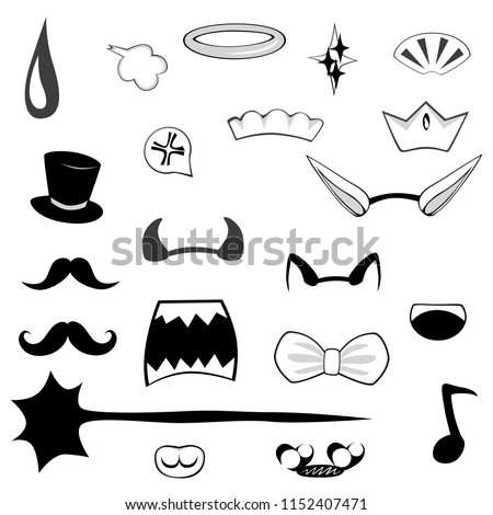 anime photo booth props   set
