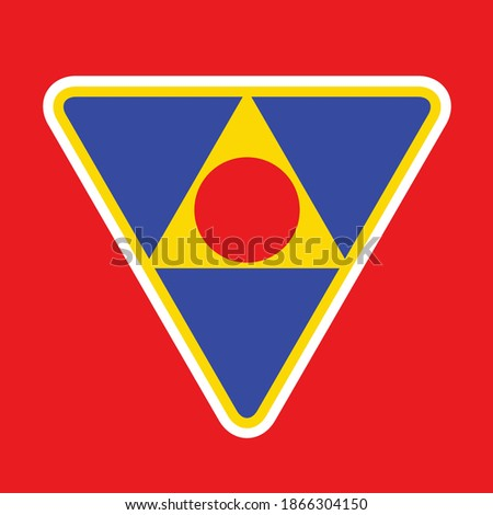 anime red bike triangle circle