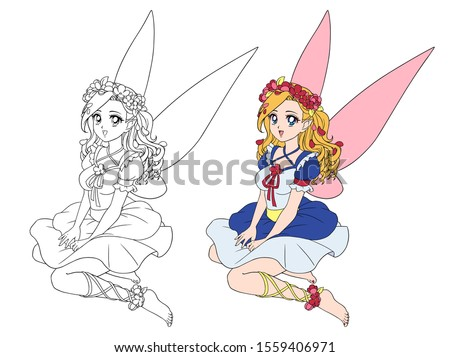 anime style pretty fairy with