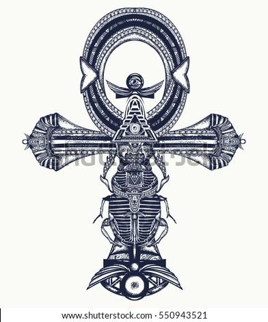 ankh tattoo  ancient egyptian