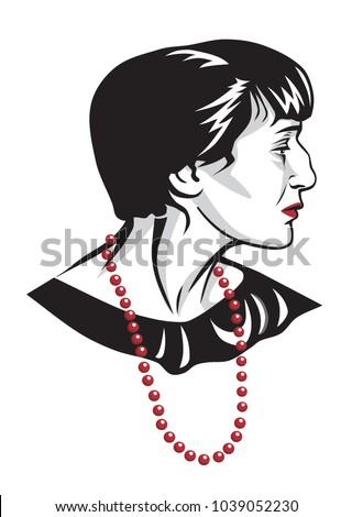 anna akhmatova vector portrait