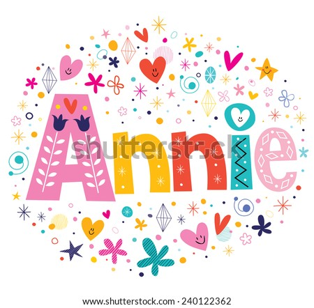 annie girls name decorative