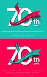 Anniversary emblems 70 anniversary template design