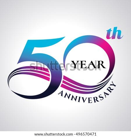 Shutterstock anniversary emblems 50 in anniversary concept template design