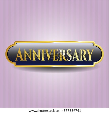 Anniversary gold emblem or badge