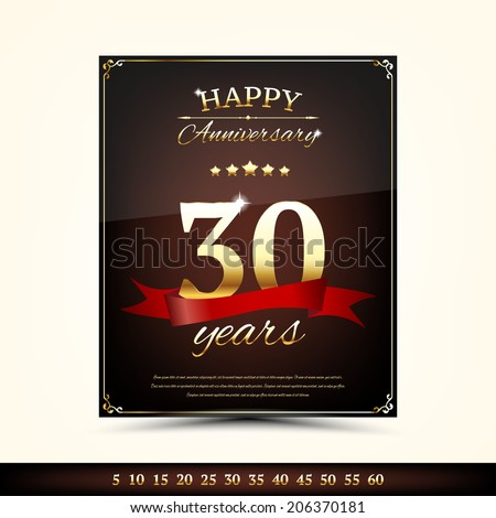 Anniversary golden brochure template
