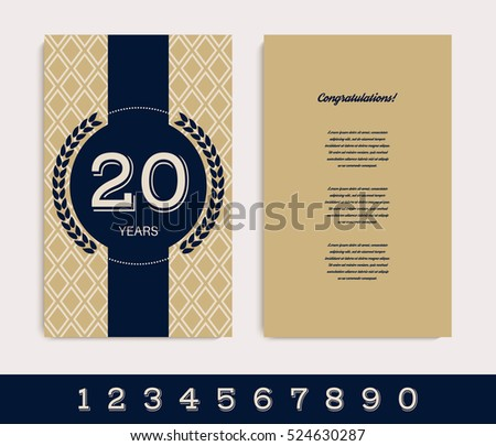18 years anniversary invitation download vetores e grficos gratuitos anniversary invitationgreeting card template vector illustration stopboris Image collections