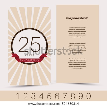 18 years anniversary invitation download free vector art stock anniversary invitationgreeting card template vector illustration stopboris Gallery