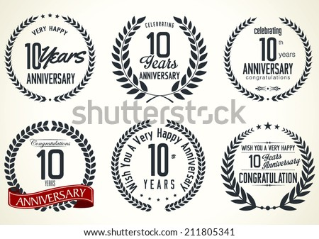 Anniversary laurel wreath design 10 years