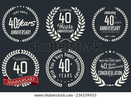 Anniversary laurel wreath design,  40 years