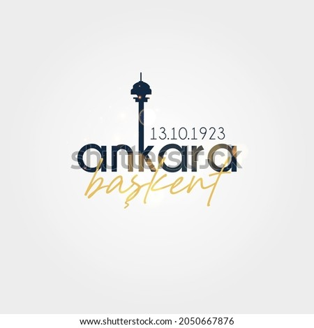 Anniversary of Ankara becoming the capital of Turkey. Foto d'archivio ©