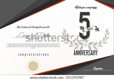 anniversary retro background 5