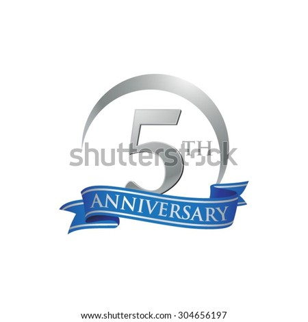 Royalty Free 5 Years Anniversary Logo 354351287 Stock Photo