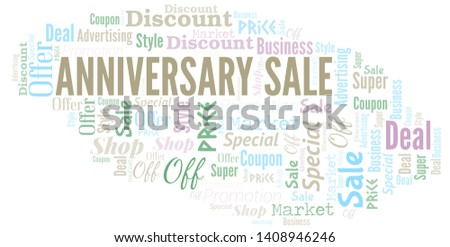 Anniversary Sale Word Cloud. Word cloud Made With Text.