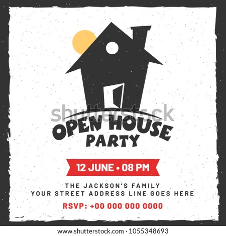 Announcement for Open House Poster, Banner or Flyer Design.