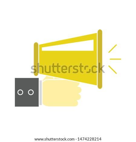 announcement icon. flat illustration of announcement vector icon. announcement sign symbol