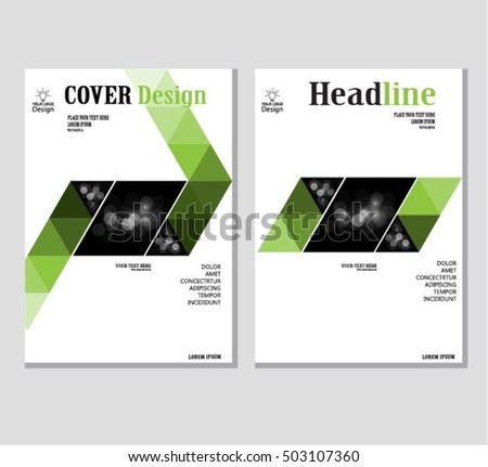 annual business report cover template booklet brochure cover