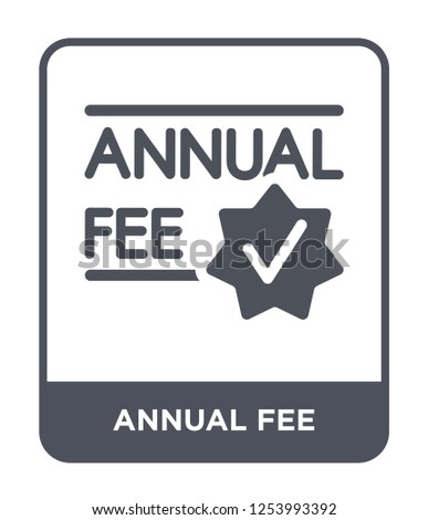 annual fee icon vector on white background, annual fee trendy filled icons from General collection, annual fee simple element illustration