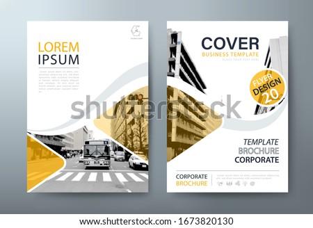 Annual report brochure flyer design, Leaflet presentation, book cover templates. ストックフォト ©