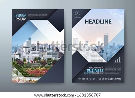 Annual report brochure flyer design, Leaflet presentation, book cover templates. vector. ストックフォト ©