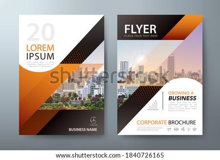 Annual report brochure flyer design, Leaflet presentation, book cover templates. vector.